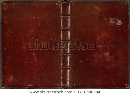 Eski kitaplar deri cilt kahverengi kırmızı Stok fotoğraf © fotoduki