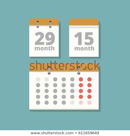 Stock fotó: Set Tear Off Calendar 2018