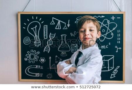 Kid Boy Laboratory Board Stock photo © lenm