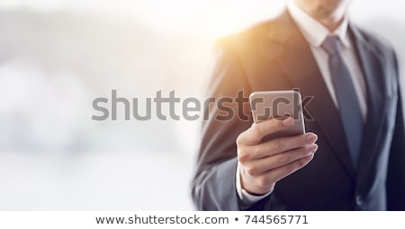 Business man holding one finger up Stock photo © IS2