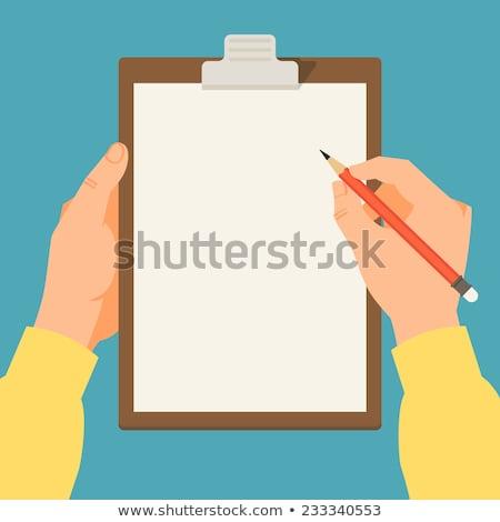 vettore · iscritto · relazione · icona · dettagliato · matita - foto d'archivio © loopall