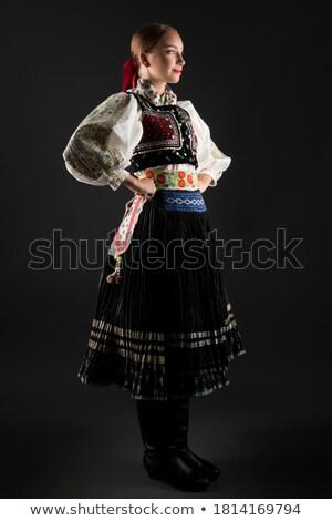 женщину исторический костюм портрет Sexy красивая женщина Сток-фото © dariazu