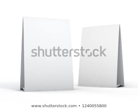 tablo · çadır · yalıtılmış · beyaz · 3D - stok fotoğraf © user_11870380