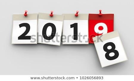 Verandering nieuwjaar 3d illustration achtergrond winter Stockfoto © Oakozhan