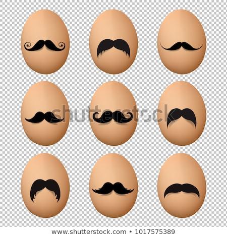 Stok fotoğraf: Yumurta · bıyık · büyük · ayarlamak · yalıtılmış · eğim