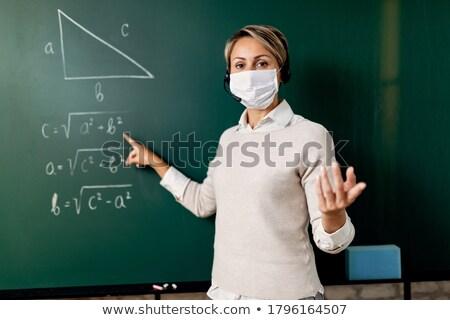 mannelijke · student · wetenschap · klasse · naar - stockfoto © lightpoet