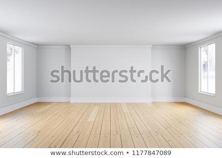 boş · beyaz · oda · pencere · 3D · görüntü - stok fotoğraf © user_11870380