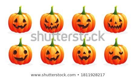 Zangado laranja abóbora legumes desenho animado cara Foto stock © hittoon