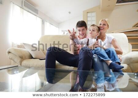 Elegante paar vergadering bank sensueel business Stockfoto © majdansky
