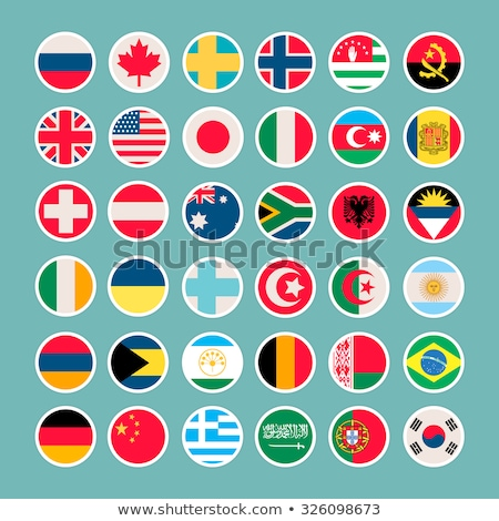 Flags of countries. USA, Ukraine, European Union, Russia, Germany. Vector illustration. Stock photo © FoxysGraphic
