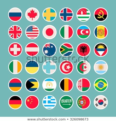 vlaggen · eu · landen · vector · groene · papier - stockfoto © foxysgraphic