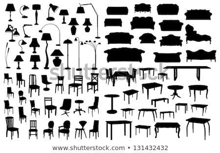 negro · techo · lámparas · vector · galería · interior - foto stock © pikepicture