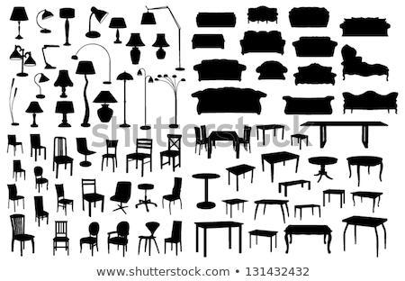 Lamp ingesteld vector tabel bureau kantoor Stockfoto © pikepicture