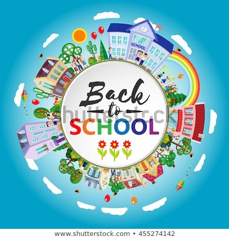 Kids Geography Books Stock photo © lenm
