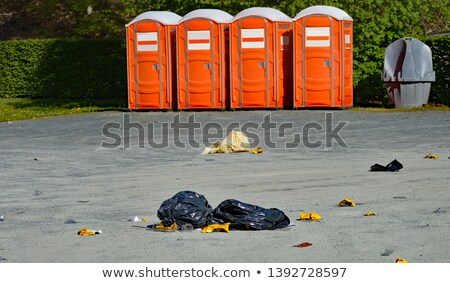 Box and bags of recycling on driveway Stock photo © IS2
