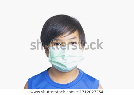 young boy with bacteria on lungs stock photo © bluering