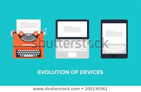 typing machine abstract stock photo © kokimk