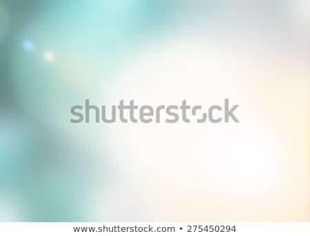 pale turquoise green blurred background with bokeh lights stock photo © tasipas