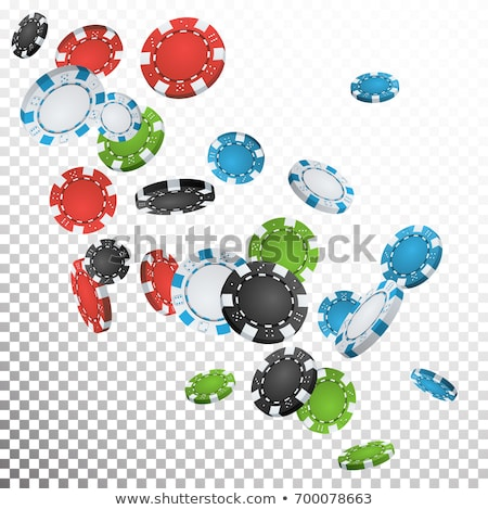 Realistic casino chips illustration on transparent background. Isolated falling token. Vector gambli Stock photo © articular