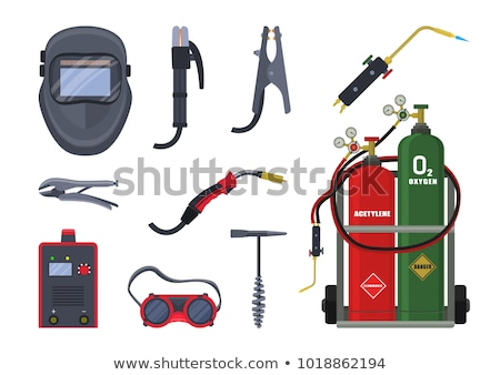 welding helmet isolated flat vector icon stock photo © robuart