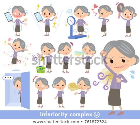 Purple clothes grandmother_complex Stock photo © toyotoyo