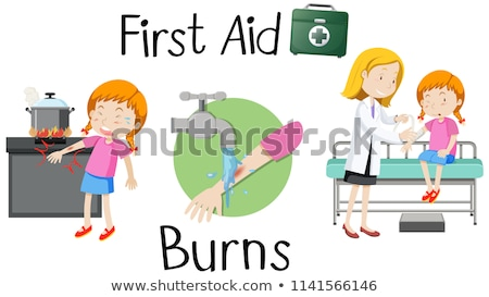 A girl with burned arm Stock photo © bluering