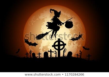 Halloween zombi ünnep kártya kezek kéz Stock fotó © WaD