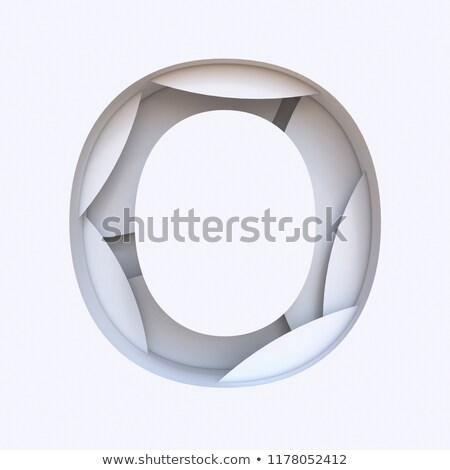 Biały streszczenie warstwy chrzcielnica 3D Zdjęcia stock © djmilic
