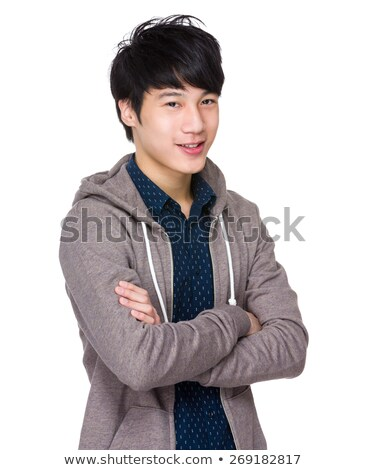 asian · mężczyzna · fałdowy · ręce · stałego · w · górę - zdjęcia stock © leedsn