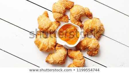 Croissants and condiments composition Stock photo © dash