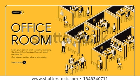 Online service - modern isometric vector web banner Stock photo © Decorwithme
