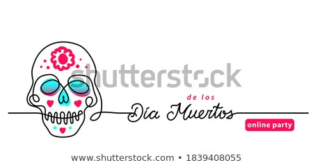 day of the dead line template stock photo © anna_leni