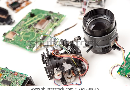 ビデオカメラ 細部 古い ツール 孤立した 白 ストックフォト © EvgenyBashta