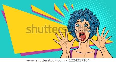 Donna panico paura sorpresa gesto ragazze Foto d'archivio © studiostoks