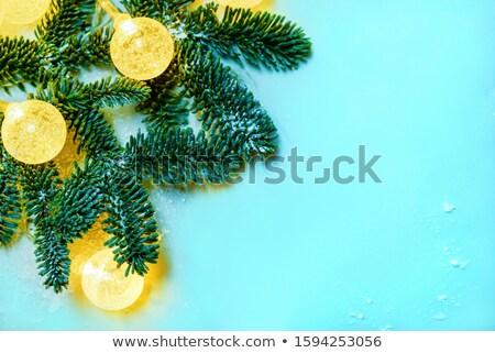 Transparent blau Weihnachten Ball Schnee Wirkung Stock foto © olehsvetiukha
