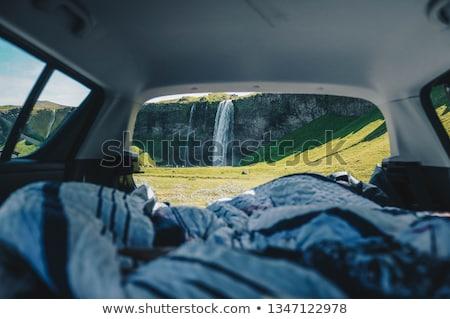 femme · pilote · séance · à · l'intérieur · voiture - photo stock © andreypopov