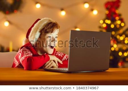 Pequeno criança maravilhado natal feliz criança Foto stock © choreograph