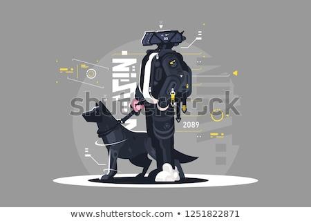 Csávó sétál kutya robot kutyus póráz Stock fotó © jossdiim
