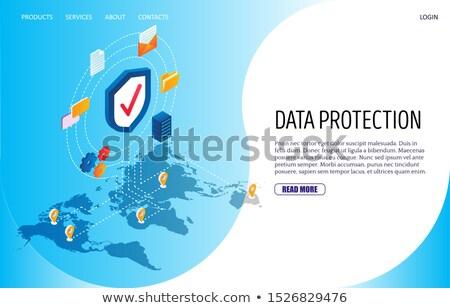 Cyber security management app interface template. Stock photo © RAStudio