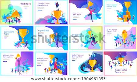 On the way to success concept landing page. Stock photo © RAStudio