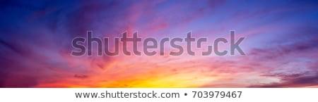 Stock fotó: Orange Sunset Sky With Clouds