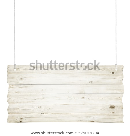 Blank Wooden Sign Over White Background Stock photo © olivier_le_moal