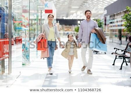 торговых семьи вместе Mall вектора отец Сток-фото © robuart