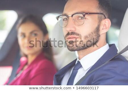 Bella uomini occhiali mano ragazzo nero Foto d'archivio © Massonforstock