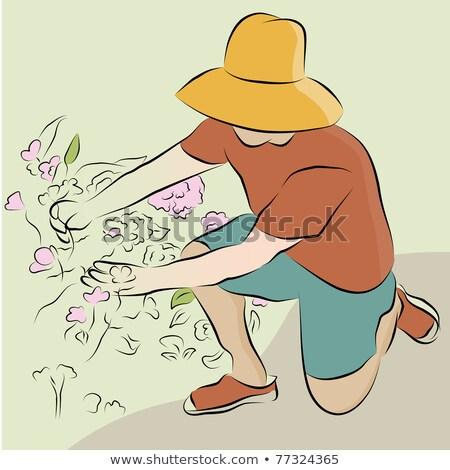 человека · линия · рисунок · изображение · цветы - Сток-фото © cteconsulting