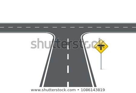 Vektor kereszteződés út rajz út szállítás Stock fotó © olllikeballoon