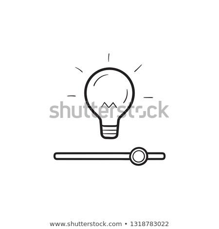 okos · otthon · villanykörte · fényesség · irányítás · kézzel · rajzolt - stock fotó © RAStudio