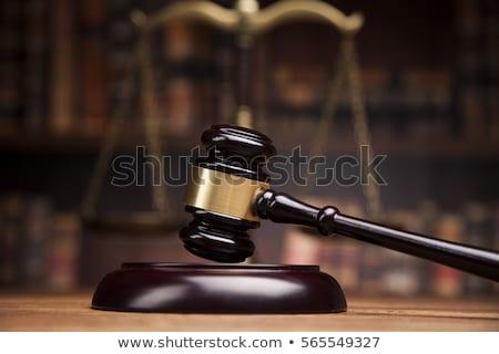 juge · perruque · échelles · justice · pop · art · rétro - photo stock © studiostoks