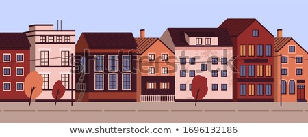 Urban district - modern flat design style vector illustration Stock photo © Decorwithme