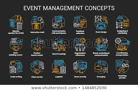 Event management concept vector illustration. Stock photo © RAStudio